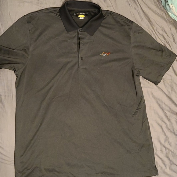 Men's Greg Norman PlayDry Grey Polo